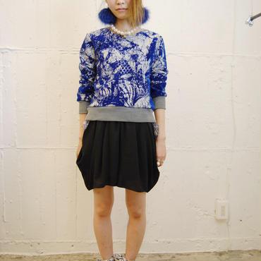 50%OFF!!!SHIROMA 14-15A/W SACRED LIZARD sweat shirt -lightgray×blue-