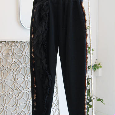 SHIROMA 17-18A/W Female punks sweatpants -black-