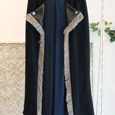 SHIROMA 16-17A/W DARK AGES rider's long skirt -black-