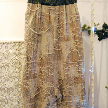 50%OFF!!!SHIROMA 15-16A/W ghost jacquard sarrouel pants -beige-