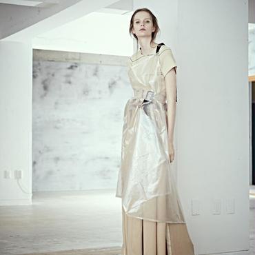 SHIROMA 19S/S wrap dress (see-through)