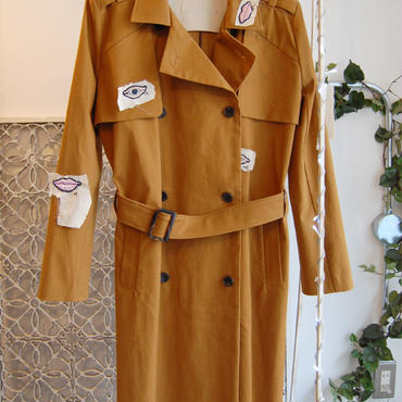 ma.macaron×GUSUCUMA trench coat -face parts-