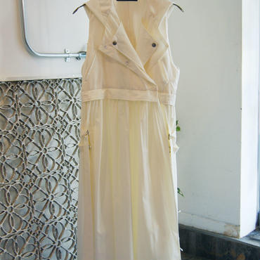 SHIROMA 17-18A/W Female punks nylon vest -white-