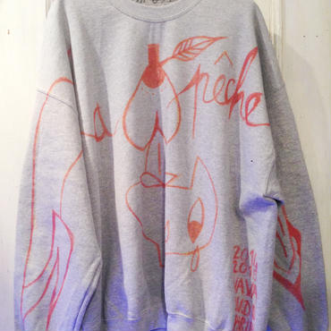 VAVADUDU hand drawing sweat shirt 【3】