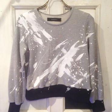 50%OFF!!! 【GUSUCUMA limited】SHIROMA 15S/S PRIMITIVE ACTION white paint sweat shirt