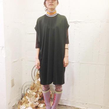 40%OFF!!!! NON TOKYO rib dress -khaki-