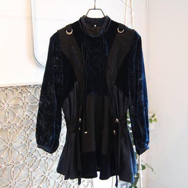 SHIROMA 17-18A/W Female punks velvet pullover jacket