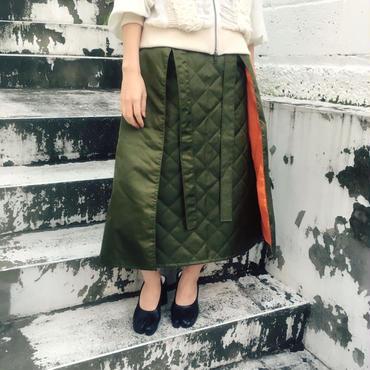 40%OFF!!!BANZAI ma-1 skirt -khaki-
