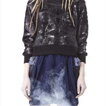 50%OFF!!!SHIROMA 14-15A/W SACRED LIZARD boa sweatshirt -black metal-