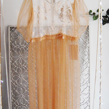 50%OFF!!! SHIROMA 17S/S BREAK embroidery tulle dress