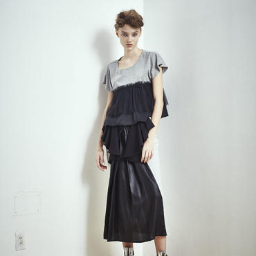SHIROMA 17S/S BREAK tight frill skirt