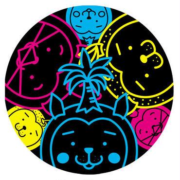 みやざき犬ステッカー/直径9.5㎝(ネオン)