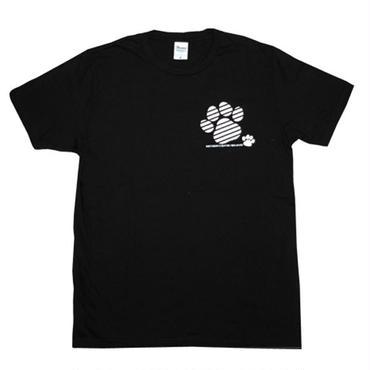 みやざき犬Tシャツ/男女兼用(足跡柄/ブラック)