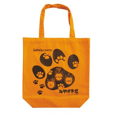 みやざき犬トートバッグ/足跡柄(オレンジ)