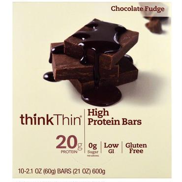 thinkThin プロテインバー チョコレートファッジ味