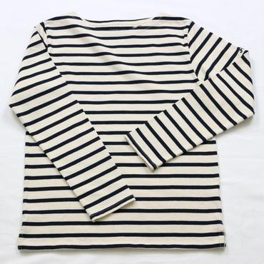 テンジクヤ ボーダーTシャツ ナチュラル(生成り) X ネイビー