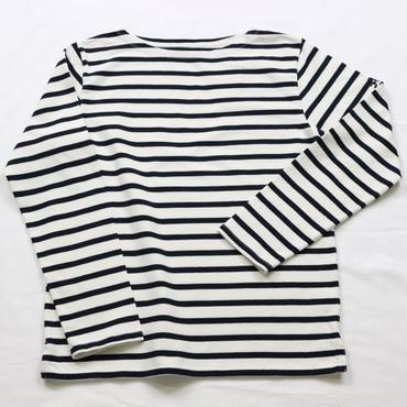 テンジクヤ ボーダー Tシャツ オフホワイト X ネイビー