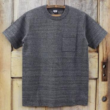 リサイクルコットン吊天竺ポケットTシャツ - ダーク杢グレー
