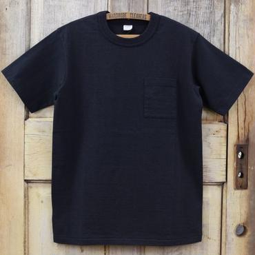 リサイクルコットン吊天竺ポケットTシャツ - チャコール