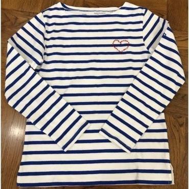 テンジクヤボーダーTシャツ  「ハート・ビーズ柄」NO. TJ8647