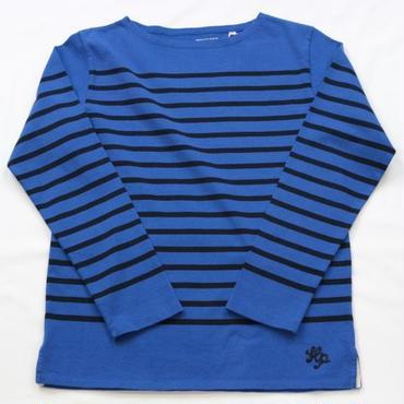 テンジクヤ パネルボーダーTシャツ ブルー X ネイビー