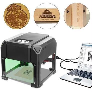 レーザー彫刻機 レーザーカッター cncルーター DIY AC100-240V 1500mW 自作DIY