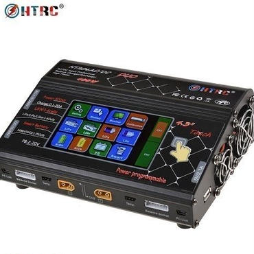 """Htrc HT206 ac/dc duo 200ワット* 2 20a * 2デュアルポート4.3 """"カラーlcdタッチスクリーンrc 充電器"""