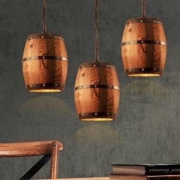 ワイン樽型 ペンダントライト シャンデリア バレルライト レストラン ダイニングルーム パブ カフェ