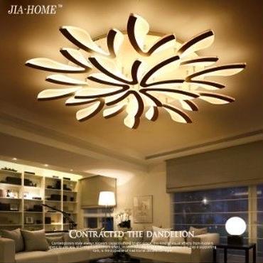 現代アート フラワーモチーフ 花びら LED ライト インテリア 天井 オーガニック 照明 シャンデリア リモコン付
