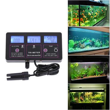 プロ 6 マルチパラメーター水テスト メーター デジタル液晶水質監視装置 pH/RH/EC/CF/TDS(PPM)/ メーター