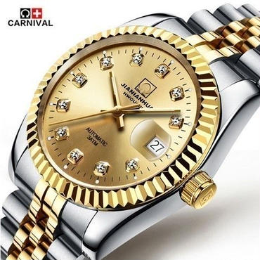 デイトジャスト風  腕時計  デイトジャストイエローゴールド ダイヤモンド ロレックス好きなあなたに♪