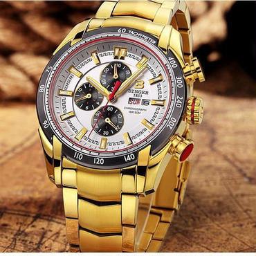【送料無料】BINGER メンズ 腕時計 クロノグラフ 革 高級 デザイン 海外 人気 (03)