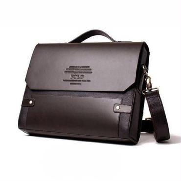 FANKE POLO メンズ 高級PUレザー ビジネスバッグ ブリーフケース ショルダー スクエア 横型 大人気 ブランド 機能性 上質 質感