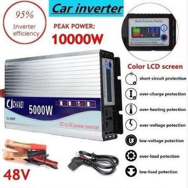 インバータ12/24/48/220V 5000/10000W トランスインバータコンバータ+液晶ディスプレイ