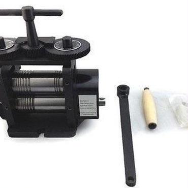 彫金ローラー 圧延機 ワイドロール 110 mm 金属箔 ローラ 地金の圧縮 角溝 半丸溝兼用