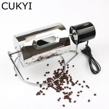珈琲焙煎機 小型 コーヒーロースター 電動 コーヒー豆焙煎機 ステンレス製 家庭でも