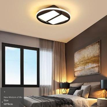 スタイリッシュ モダン LED 天井 セリングライト 照明  寝室 ベットルーム リビング  ブラック ホワイト