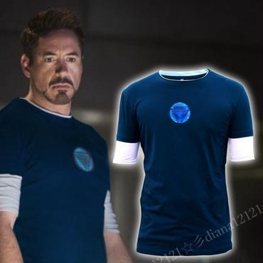 アイアンマン3 トニースタークTシャツ Newバトルスーツ マーベル