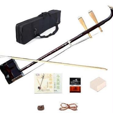 【送料無料!】二胡 本体 初心者セット ケース ブック 弦 弓 中国 楽器 ロジン 木製 特殊