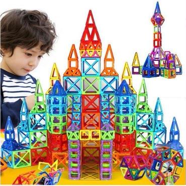 大量400ピース マグブロック ミニ マグネット積木 磁石パズル 磁石おもちゃ 知育玩具 新品 送料無料 収納ボックス付