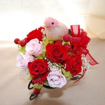 HummingBird 小鳥のカラーが選べます♪[ケース入]プリザーブドフラワー