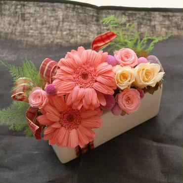 [プリザ]Luce Pink ガーベラアレンジ[ケース入]