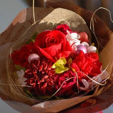 Bouquet! プリザーブドフラワー花束風アレンジ レッド
