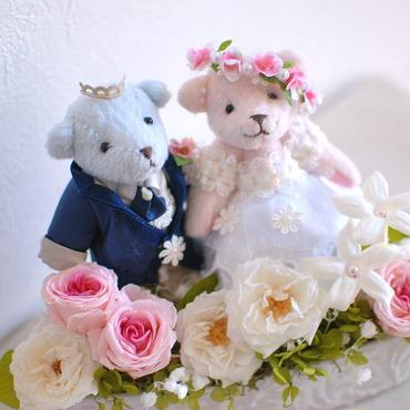 プリザーブドフラワーのウェルカムベア/ケース入り/結婚式やご結婚祝いに/ウェディング