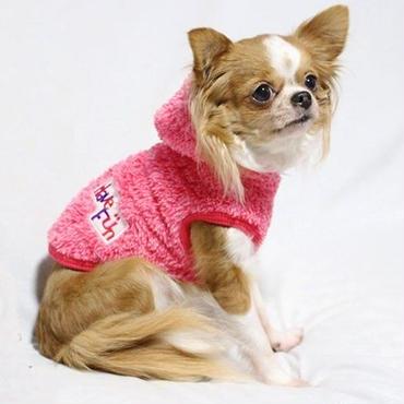 超小型犬 iDog HaveFunふわふわパーカーXS,Sサイズ