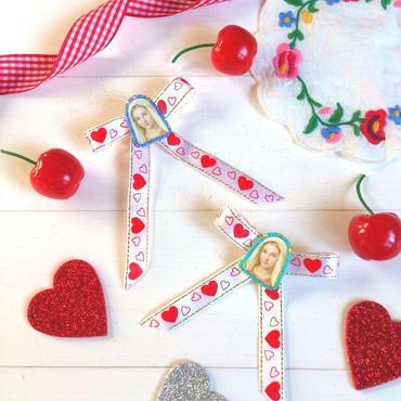 virgin maria バレッタ♡school ribbon♡