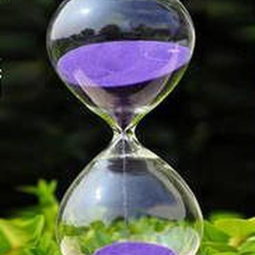 砂時計 枠なし インテリア 可愛い デザイン 15分 紫