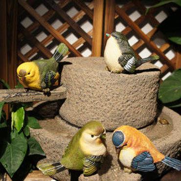 かわいい 鳥 置物 インテリア 4匹 セット