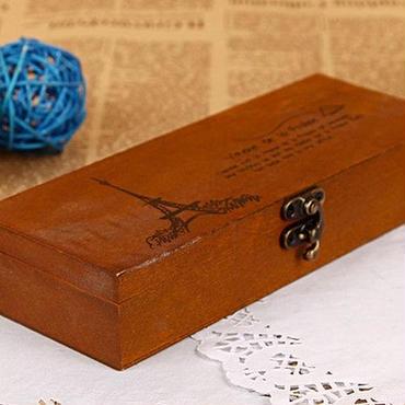 ペンケース アンティーク風 オシャレ 木製