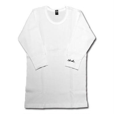 1/2 THERMAL TEE WHITE